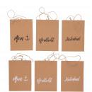 Paper bag Moin, 3 motifs, 2 colors, L12cm, B6c